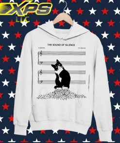 Black Cat The sound of Silence Music hoodie