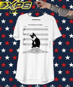 Black Cat The sound of Silence Music shirt