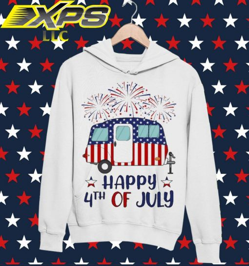 Camp America Happy 4th of July hoodie