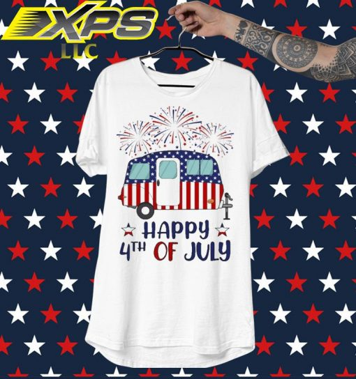 Camp America Happy 4th of July shirt