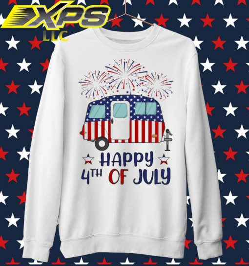 Camp America Happy 4th of July sweater