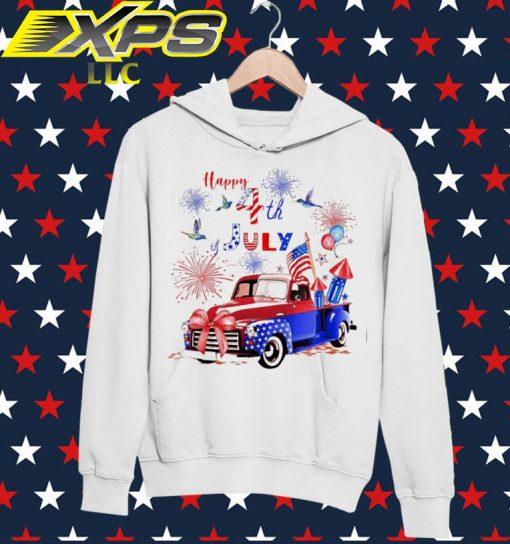 Car America Happy 4th of July hoodie