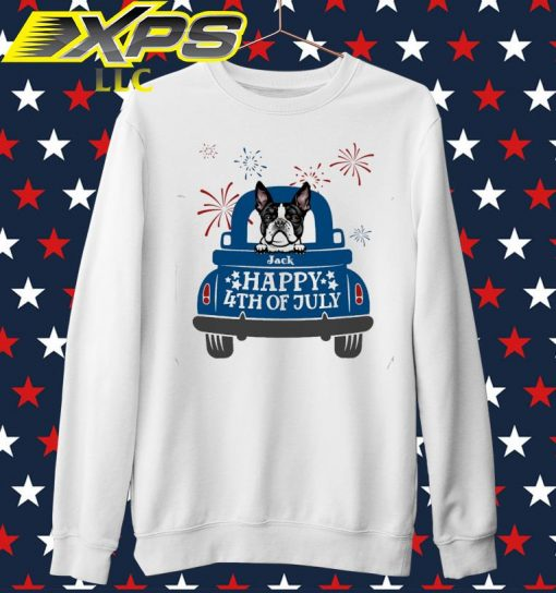 French Bulldog Happy 4th of July sweater