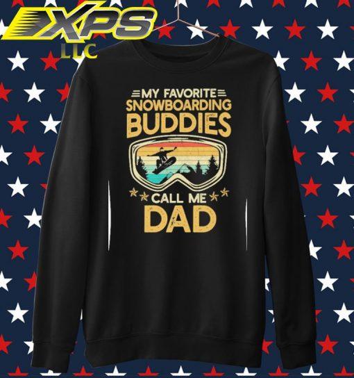My favorite Snowboarding Buddies call me Dad vintage sweater