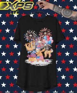 Sloth American Happy 4th of July shirt