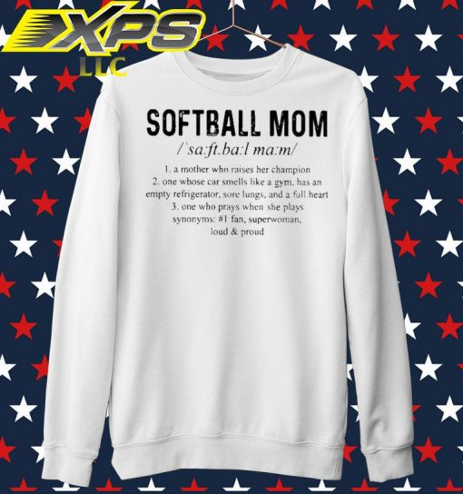 Softball Mom a Mother who raised her champion sweater