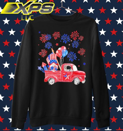 The Gnome and Car happy 4th of July sweater