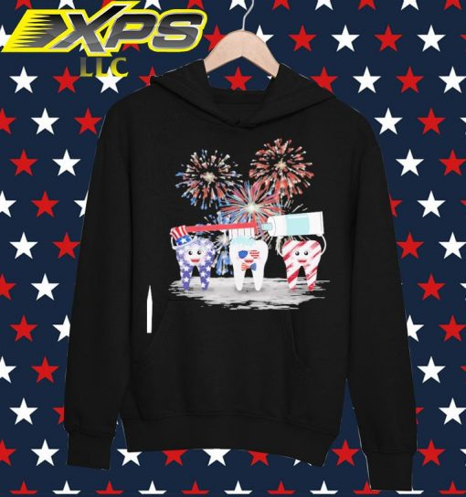 Tooth American Happy 4th of July hoodie