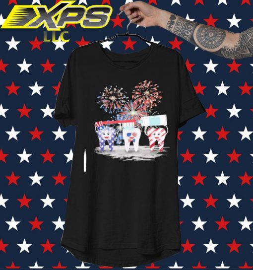 Tooth American Happy 4th of July shirt