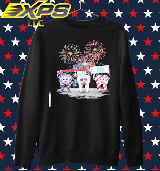 Tooth American Happy 4th of July sweater